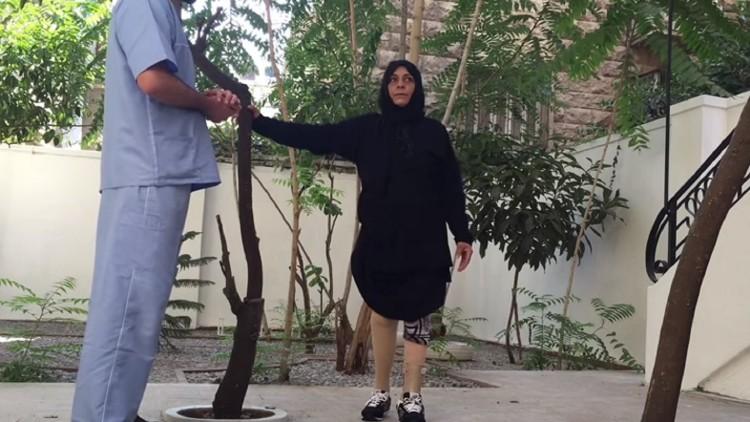 سورية: أمينة تعاود المشي