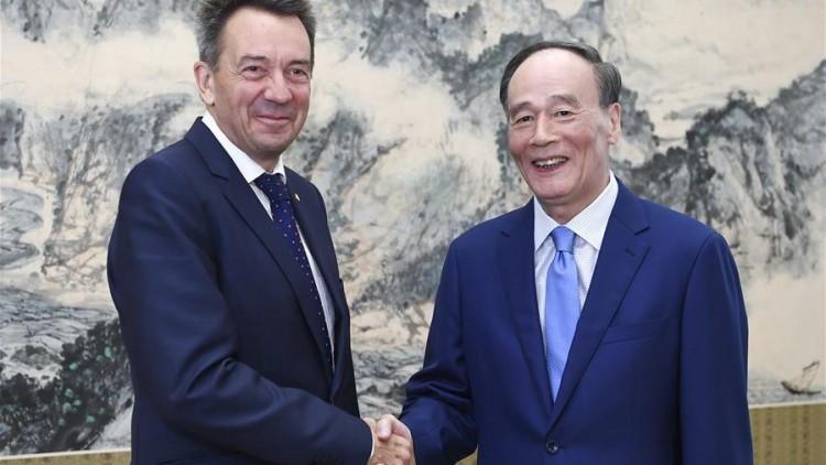 新华网:王岐山会见红十字国际委员会主席毛雷尔