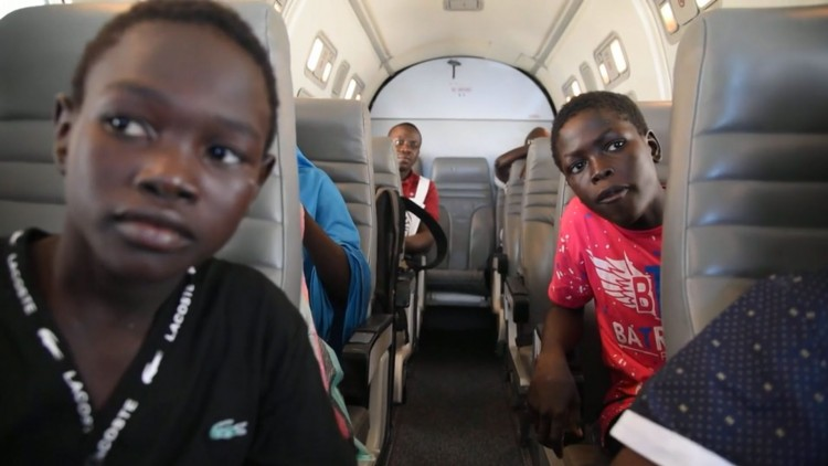 Nigerian children living as refugees reunited with their families