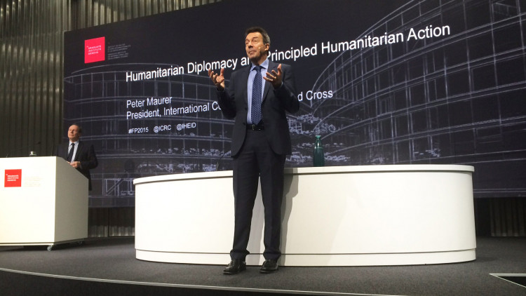Webcast: Peter Maurer – Humanitarian Diplomacy and Principled Humanitarian Action