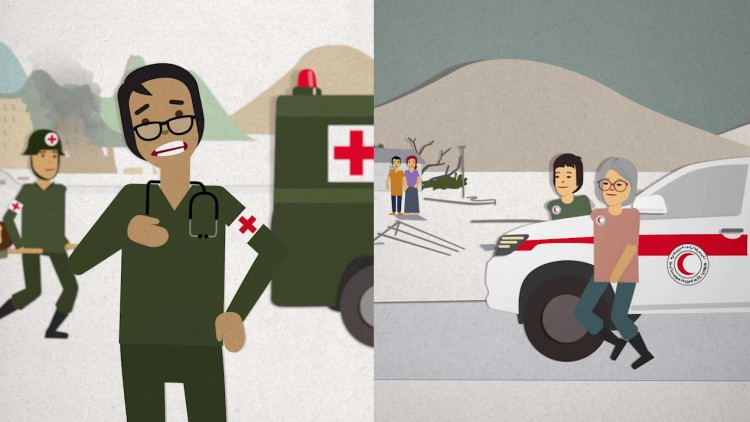 The red cross, red crescent and red crystal, what do they mean? In one word: protection