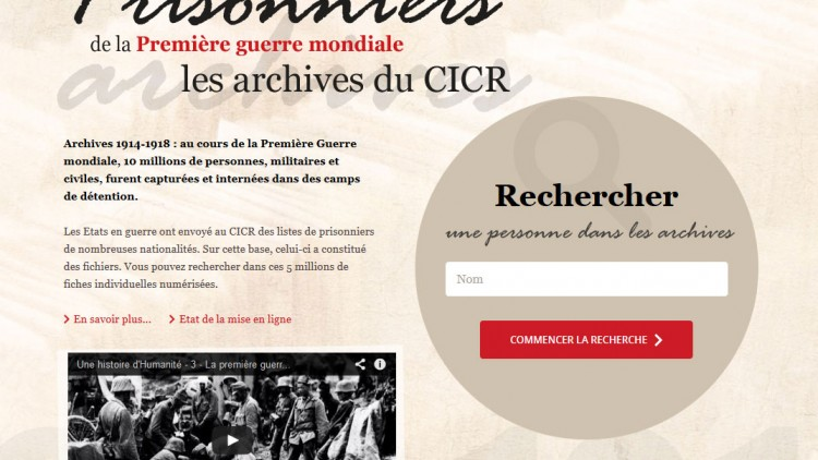 Première Guerre mondiale 1914-1918: Rechercher une personne dans les archives