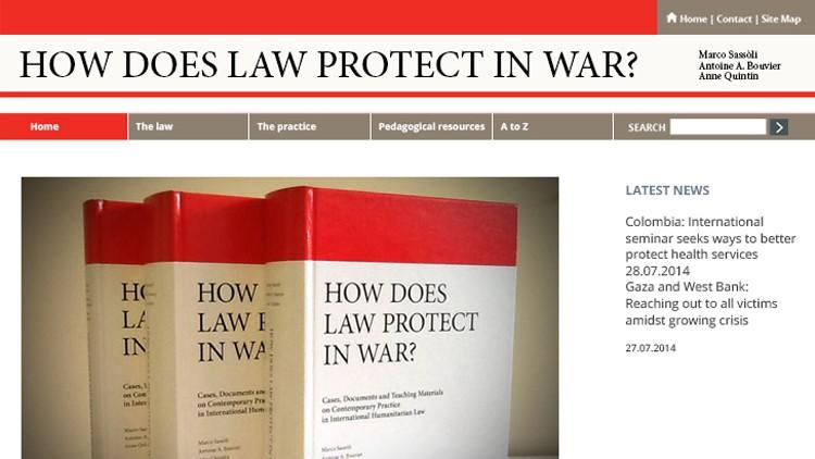 Wie schützen Gesetze im Krieg? Online-Plattform