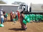 奥罗米亚州,马尤(Mayu),返乡村民获得了红十字国际委员会和埃塞俄比亚红十字会提供的种子和农具。