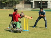 The players put in maximum effort during their first encounter at the national cricket stadium in Bangladesh.