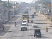 L'arrivée des secours du CICR après le passage du typhon