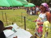 Enceinte de son premier enfant, Chance est revenue à son village de Misoke, après deux ans de déplacement dans la brousse.