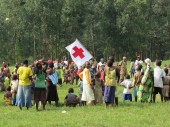 Recreational activities run in villages by the ICRC and the National Red Cross.
