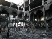 Rafah. A large shopping centre that was destroyed during the bombings. A. El Baba.