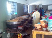 The kitchen at Cap-Haïtien civilian prison was renovated by the ICRC.