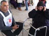 阿兹拉克营地:红十字国际委员会帮助叙利亚难民与家人保持联系。CC BY-NC-ND/ICRC/Basel Saleh