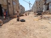阿勒颇。儿童在流离失所者营地玩耍。