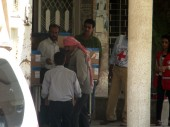 Medical items being unloaded at Hassakeh National hospital.  / CC BY-NC-ND/ ICRC