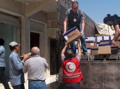 Medical items being unloaded at Ras-el-Ain hospital.  / CC BY-NC-ND/ ICRC