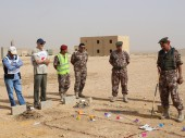 Jordan Armed Forces members take part in a two-week training course on the law of armed conflict in Zarqa.