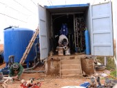 Jordan. ICRC staff rehabilitating the desalination unit at Ruwayshid treatment plant.
