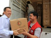 Syrian Arab Red Crescent warehouse.
