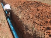 Prisoners lay pipes connecting the three boreholes to water reservoirs that supply water to the Chikurubi Prison Complex.