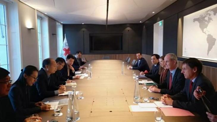 国家国际发展合作署署长王晓涛率团访问红十字国际委员会日内瓦总部