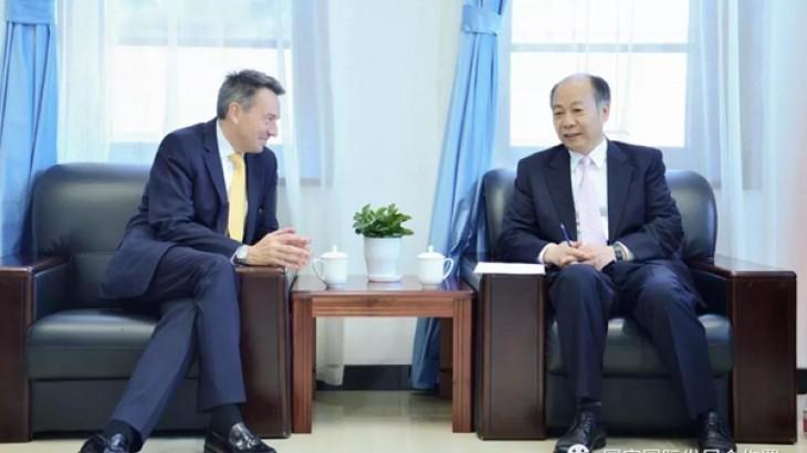 国家国际发展合作署署长王晓涛会见红十字国际委员会主席毛雷尔