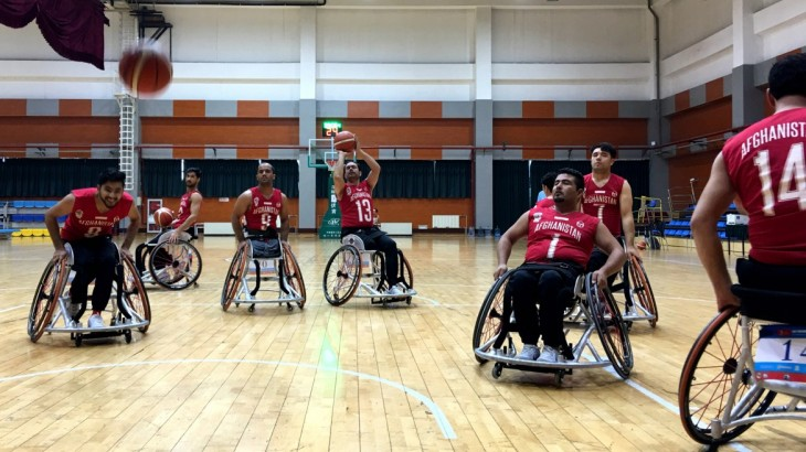China: Afghan wheelchair basketball team goes for slam dunk