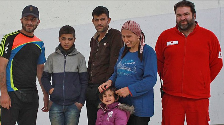 Austria: Separated refugee family reunited in Salzburg