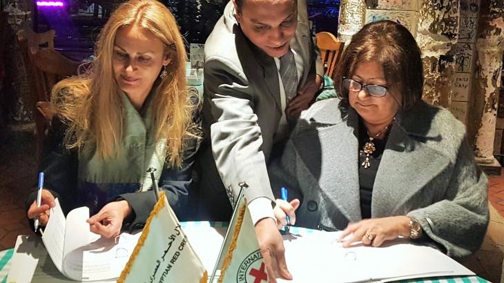توقيع اتفاقيات تعاون بين اللجنة الدولية للصليب الأحمر والهلال الأحمر المصري