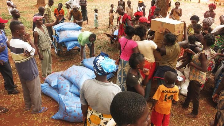 République centrafricaine : plus de 11 000 personnes déplacées reçoivent une assistance alimentaire