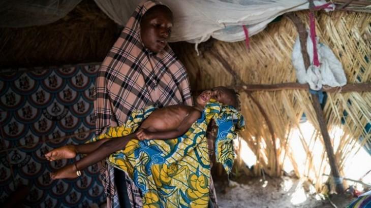 """乍得湖:""""每天都有儿童死于营养不良"""""""
