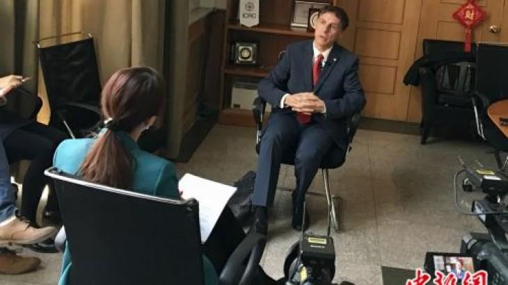 中新社:专访红十字国际委员会主席中国事务特使