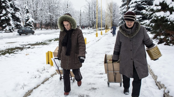 Women on the front line in eastern Ukraine
