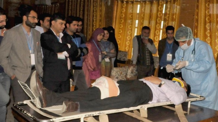 Weapon-wounded seminar held for health professionals in Jammu & Kashmir