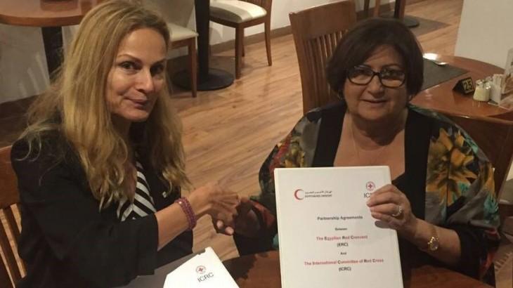 توقيع اتفاقية التعاون بين اللجنة الدولية للصليب الأحمر والهلال الأحمر المصري