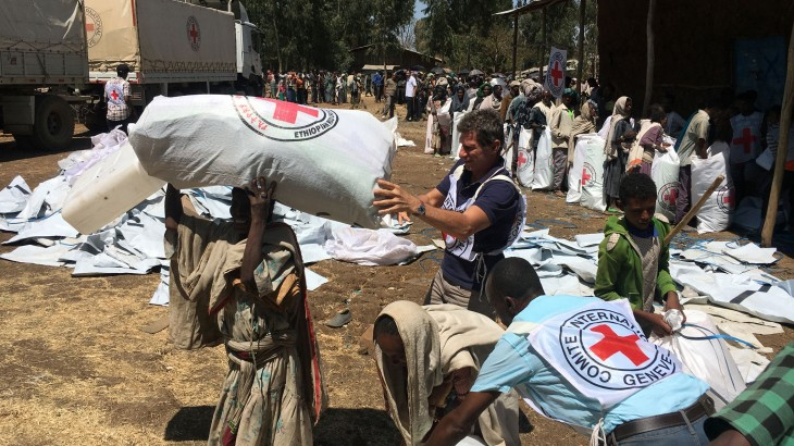 ICRC, ERCS deliver emergency assistance to IDPs in Northern Ethiopia