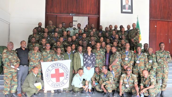 埃塞俄比亚:红十字国际委员会为高级军官举办国际人道法培训