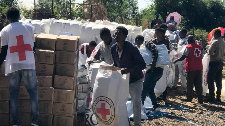 ICRC, ERCS distribute emergency assistance to 2,615 displaced households in North Ethiopia
