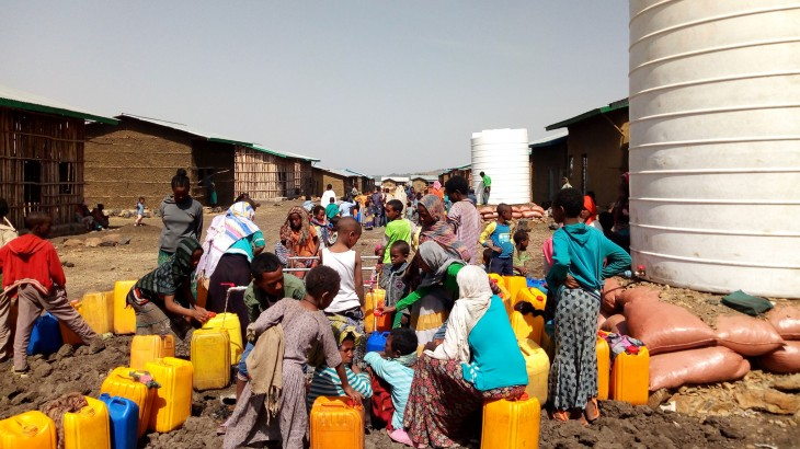 红十字国际委员会帮助埃塞俄比亚北部12000名流离失所民众获取用水及卫生服务