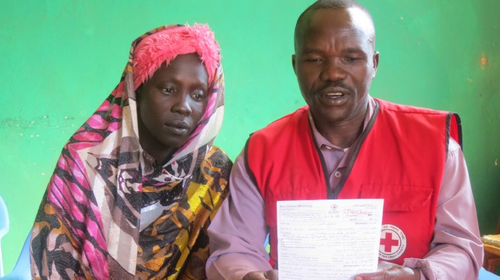 Red Cross helps Sudanese refugee restore links with her separated relatives