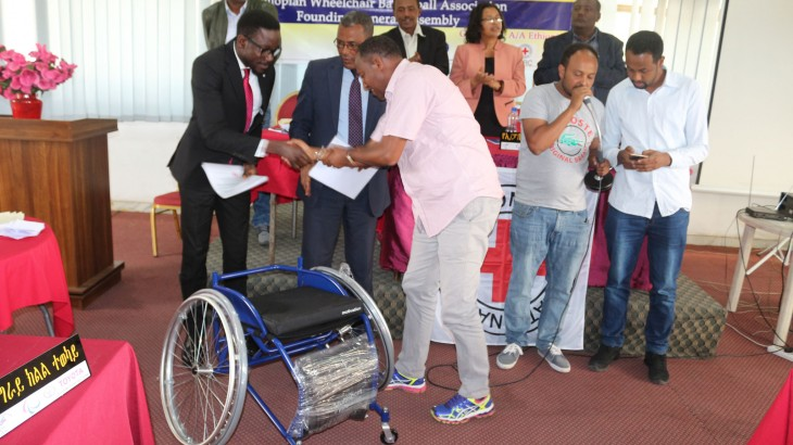 ICRC donates 170 wheelchairs to newly established Ethiopian Wheelchair Basketball Association