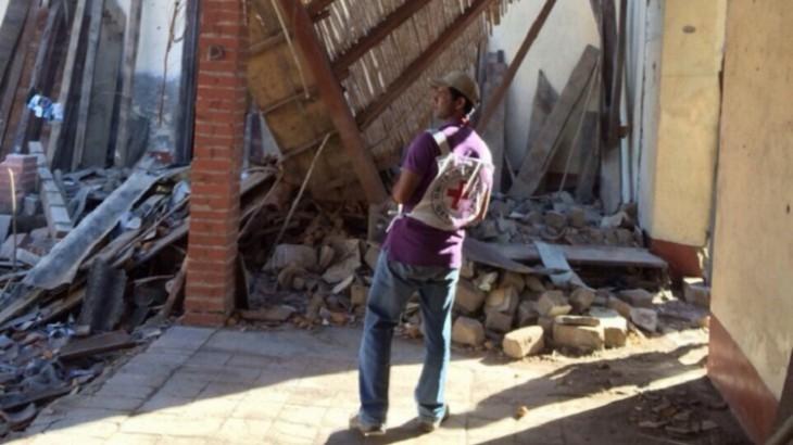 哥伦比亚:家庭困于交火之中,房屋尽毁