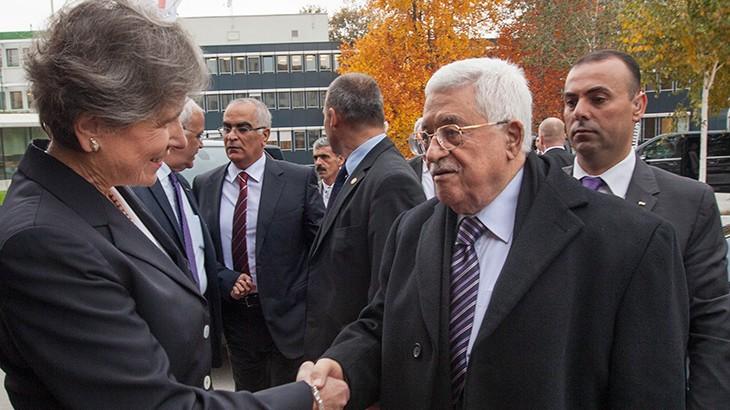 Palestinian President Mahmoud Abbas visits ICRC Headquarters