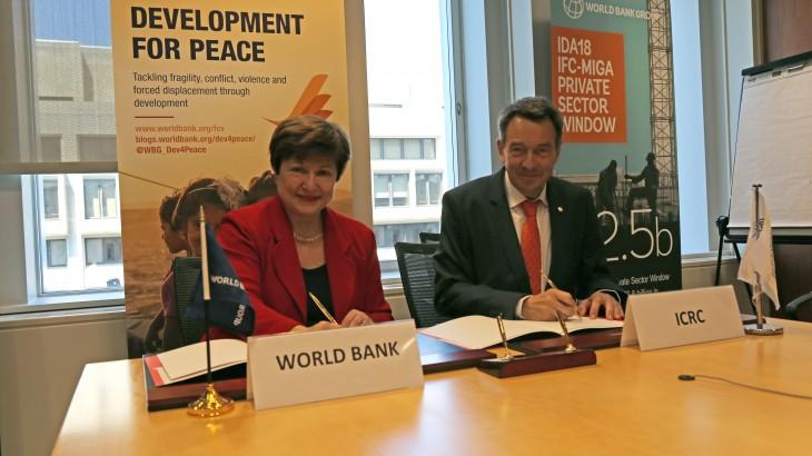 红十字国际委员会与世界银行合作,加大对受冲突影响的脆弱地区的支持