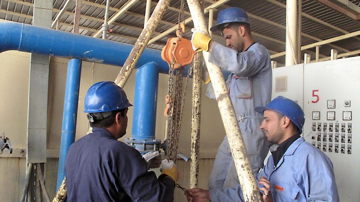 iraq technician training keeps water flowing in rural areas