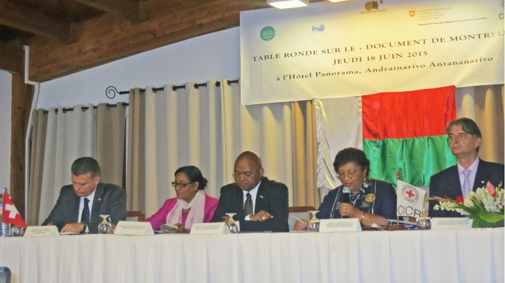 International humanitarian law: Madagascar supports Montreux Document