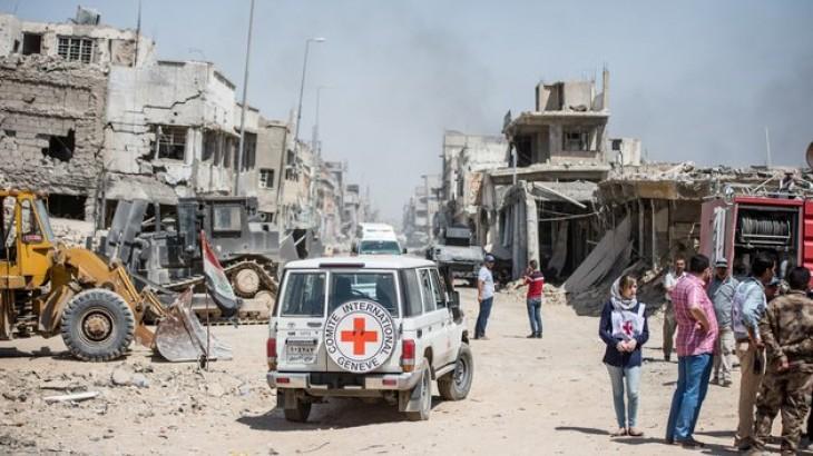 伊拉克:援助物资首次运抵摩苏尔西部