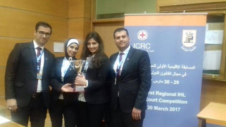 سورية: الفريق السوري يفوز بأول مسابقة اقليمية في القانون الدولي الانساني لطلاب الجامعات العربية