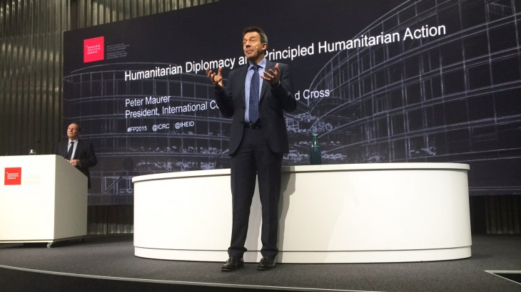 Peter Maurer on humanitarian diplomacy and principled humanitarian action
