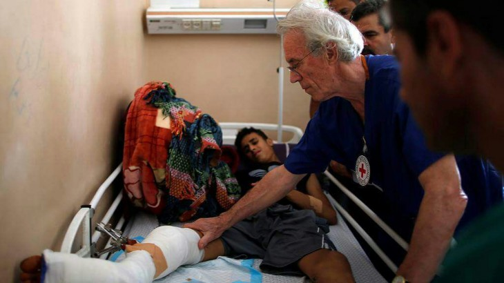 """Trauma surgery is about saving life"": British surgeon training medics in Gaza"