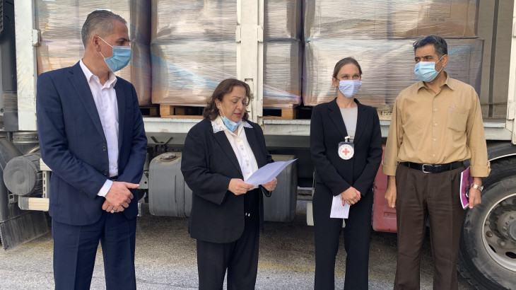 Jerusalem: ICRC donates protective equipment to tackle second wave of COVID-19