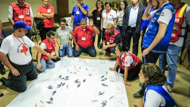 Primeros auxilios en situaciones de violencia reúne representantes de la Cruz Roja de América Latina